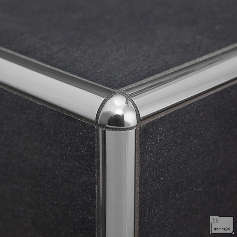 5x Viertelkreis Edelstahlschiene Fliesenschiene Fliesenprofil Edelstahl V2A 12,5m 12mm geb/ürstet